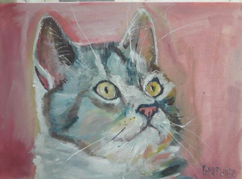 Portrait de chat GAUTHIER 150 €
